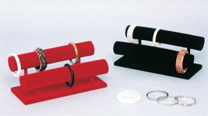 Espositore porta bracciali e orologi floccato