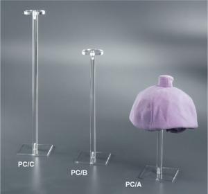 Clear plexiglass hat display