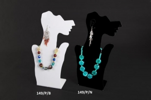 Plexiglass necklace and earring display