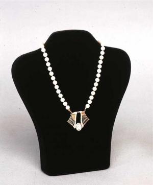 Flocked necklace display