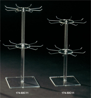 Two-tier necklace revolving rack