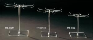 Single tier necklace revolving rack