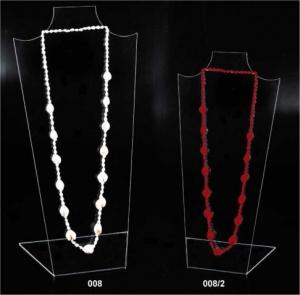 Clear plexiglass necklace display