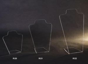 Espositore porta collane in plex trasparente
