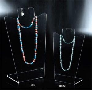 Clear plexiglass necklace/earring display