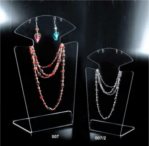 Clear plexiglass necklace/earring display