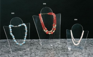 Clear plexiglass necklace display