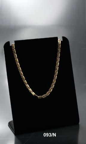 Black plexiglass necklace display