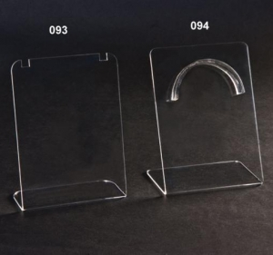 Espositore porta collane in plexiglass trasparente
