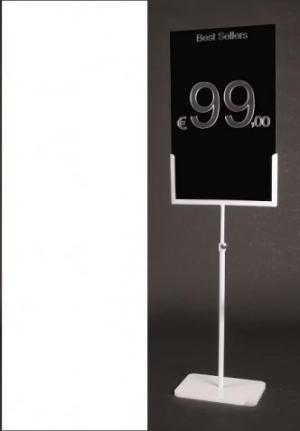 Espositore porta prezzo in metallo bianco