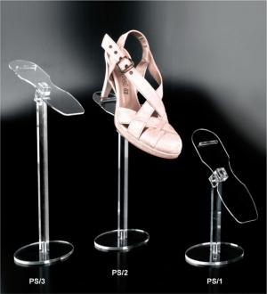 Plexiglass shoe display riser with adjustable holder