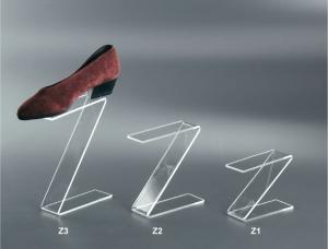 Clear plexiglass shoe display riser