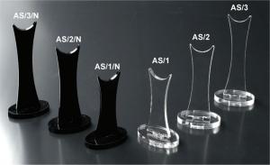 Plexiglass heeled-shoe display riser