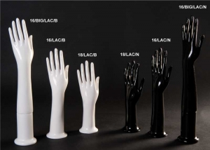 Gloss plastic glove display hand