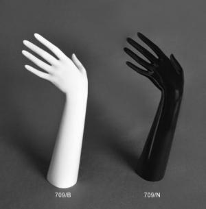 Gloss plastic glove/ring display hand