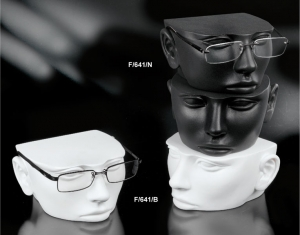 Stackable plastic eyewear display head