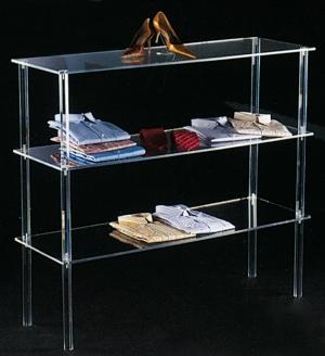 Plexiglass shelf unit display- thickness 8mm