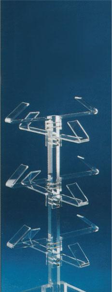 Plexiglass footwear display stand with 12 holders