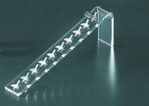 Clear plexiglass ring display stand