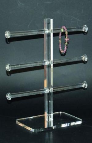 Clear plexiglass bracelet stand