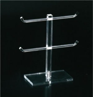 Double bar bracelet display stand