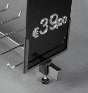 Black display price-ticket card holder