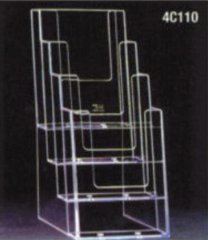 1/3rd a4 four-tier leaflet dispenser