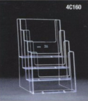 A5 four-tier leaflet dispenser
