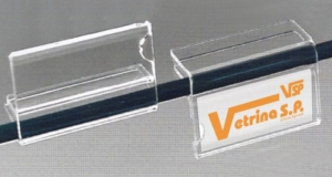 Label holder for shelving 8/10mm thick