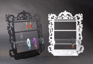 Plexiglass earring/bracelet display with frame