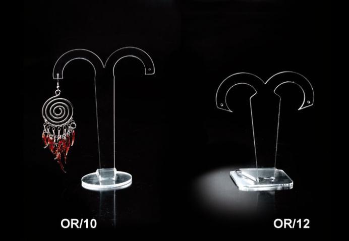 Porta orecchini in plex trasparente