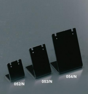 Black plexiglass earring display