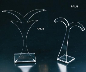 Clear plexiglass earring display
