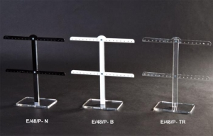 Double bar earring stand