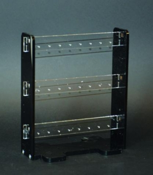 Clear and black multi earring display stand