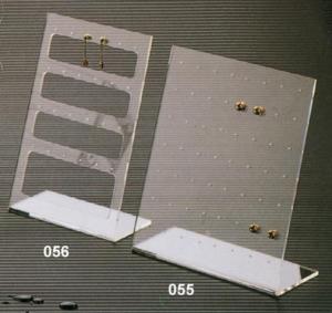Porta orecchini multiplo in plex trasparente
