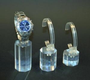 Porta orologi con base ottagonale set 3 pezzi