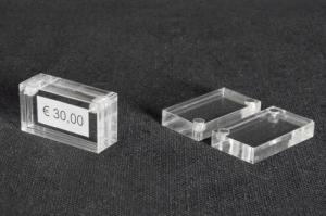 Magnetic price-ticket holder