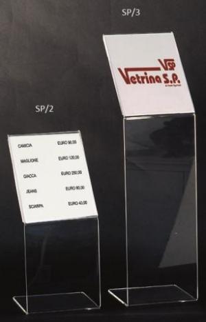 A4 and a5 plexiglass card holder
