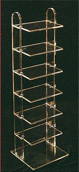 Clear plexiglass shelf unit display