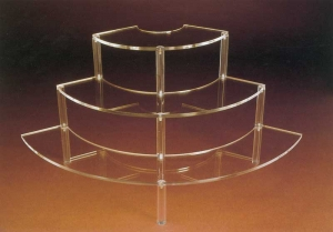 Round plexiglass step unit display - thickness 8mm