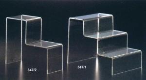Scaletta plex spess 5 mm trasparente e bianca