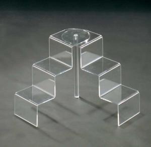 Clear plexiglass step unit display