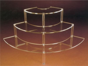 Round clear plexiglass jewellery display- thickness 5mm