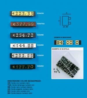 Price tag e/254