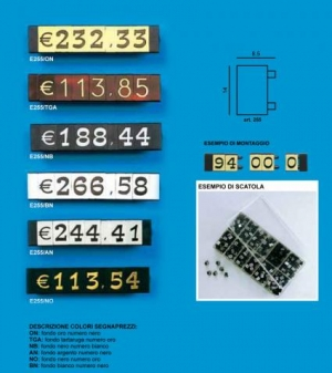 Price tag e/255