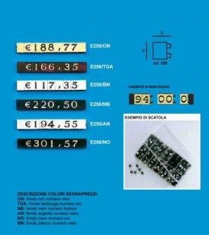 Price tag e/256