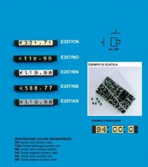 Price tag e/257