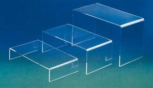Set of three plexiglass display tables - thickness 5mm