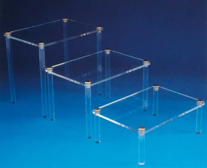 Set of 3 display tables - thickness 5mm